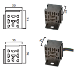 SOCKET RELAY APILABLE  5 T. CON CABLE  ( BASE  PARA RELES ) X UND C/U $ 4.16 (INDV).