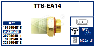 THERMO SWITCH VW C/ 2T. 95-85*C.