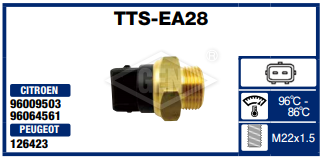 THERMO SWITCH PEUGEOT-CITROEN 96-86*C.