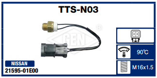 THERMO SWITCH NISSAN COD: 21595-01E00 - 90*C- M16X1.5 mm.